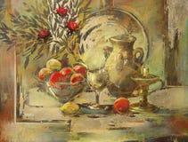 Todavía pintura hecha a mano de la vida Imagenes de archivo