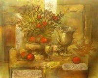 Todavía pintura hecha a mano de la vida Imagen de archivo