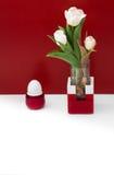 Todavía tulipán blanco de la vida y huevo blanco Foto de archivo libre de regalías