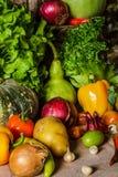 Todavía verduras, hierbas y fruta de la vida Foto de archivo