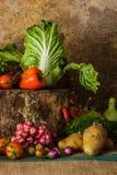 Todavía verduras, hierbas y frutas de la vida Fotografía de archivo libre de regalías