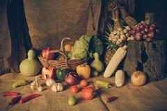 Todavía verduras, hierbas y frutas de la vida Imagen de archivo