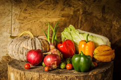 Todavía verduras y frutas de la vida. Foto de archivo libre de regalías
