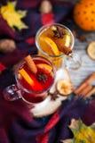 Todavía vida, comida y concepto de la bebida, estacional y de los días de fiesta chris Foto de archivo