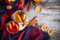 Todavía vida, comida y concepto de la bebida, estacional y de los días de fiesta chris Imagen de archivo