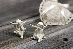 Todavía vida con ángeles Foto de archivo libre de regalías