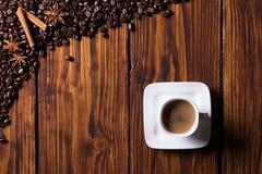 Todavía vida con café Foto de archivo