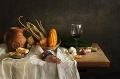 Todavía vida con el cocinero Imagen de archivo
