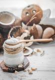 todavía vida con el coco y las escamas Fotografía de archivo