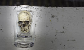 Todavía vida con el cráneo en un vidrio Fotos de archivo
