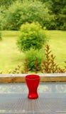 Todavía vida con el florero rojo imagen de archivo libre de regalías