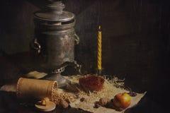 Todavía vida con el samovar Imagen de archivo