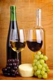 Todavía vida con el vino Fotos de archivo