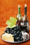 Todavía vida con el vino Imagen de archivo