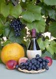 Todavía vida con el vino, Foto de archivo libre de regalías