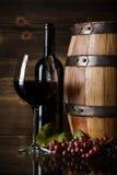 Todavía vida con el vino rojo Imágenes de archivo libres de regalías