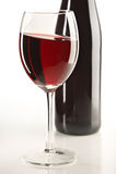 Todavía vida con el vino rojo Fotografía de archivo