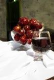 Todavía vida con el vino y las uvas Fotografía de archivo libre de regalías