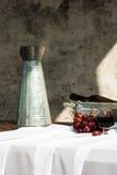 Todavía vida con el vino y las uvas Foto de archivo libre de regalías