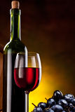 Todavía vida con la botella de vino Fotografía de archivo