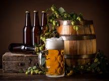 Todavía vida con la cerveza Foto de archivo libre de regalías
