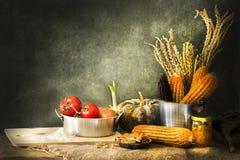Todavía vida con la cocina Imagen de archivo