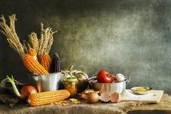 Todavía vida con la cocina Foto de archivo