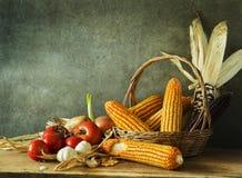 Todavía vida con la cosecha Foto de archivo
