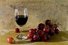 Todavía vida con la fruta y el vino Foto de archivo libre de regalías