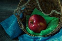 Todavía vida con la manzana roja Fotografía de archivo libre de regalías