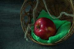 Todavía vida con la manzana roja Fotos de archivo libres de regalías