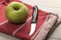 Todavía vida con la manzana verde Foto de archivo libre de regalías