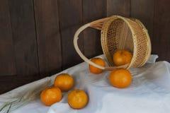 Todavía vida con la naranja Imagen de archivo libre de regalías