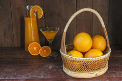 Todavía vida con la naranja Imagenes de archivo