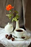 Todavía vida con la taza de café Foto de archivo libre de regalías