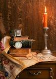 Todavía vida con la vela Foto de archivo libre de regalías