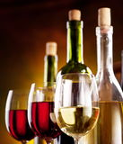 Todavía vida con las botellas de vino Fotos de archivo libres de regalías