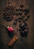 Todavía vida con las especias y el café Imagen de archivo