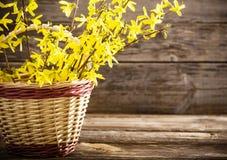 Todavía vida con las flores amarillas Fotos de archivo