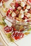 Todavía vida con las flores color de rosa secadas Imagenes de archivo