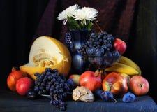 Todavía vida con las frutas frescas Imagen de archivo libre de regalías