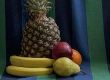 Todavía vida con las frutas frescas de la variedad de la piña Fotos de archivo libres de regalías