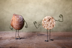 Todavía vida con las galletas Imagen de archivo