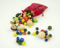 Todavía vida con las gotas de madera coloridas Foto de archivo libre de regalías