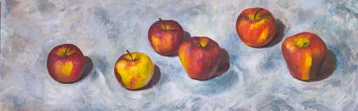 Todavía vida con las manzanas Fotografía de archivo libre de regalías
