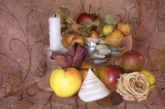 Todavía vida con las manzanas Imagen de archivo