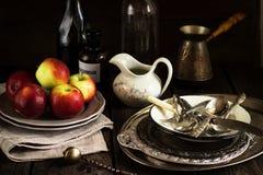 Todavía vida con las manzanas Fotos de archivo libres de regalías