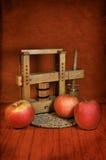 Todavía vida con las manzanas rojas Foto de archivo
