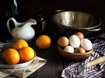 Todavía vida con las naranjas Estilo rústico Foto de archivo libre de regalías