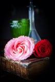 Todavía vida con las rosas Fotografía de archivo